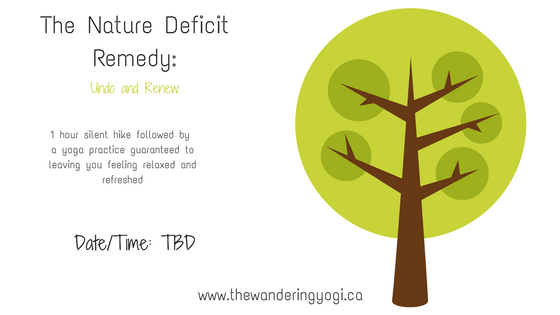 The Nature Deficit